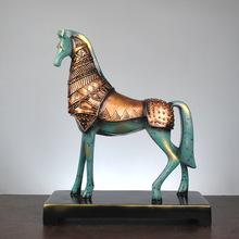 办公室客厅摆件凯撒骑士与马现代简约创意家居装饰品书房摆件