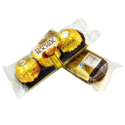 费列罗巧克力T3粒榛果威化巧克力费力罗3粒装婚庆喜糖散装批发