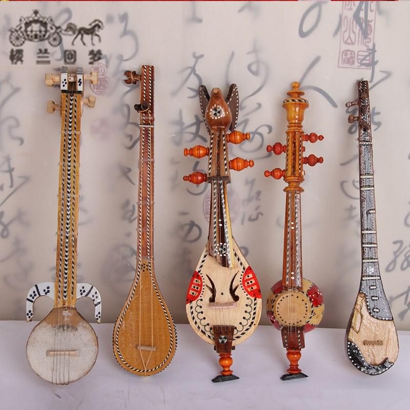 新疆民族乐器模型30厘米五件套维吾尔族特色手工艺特色礼品纪念品