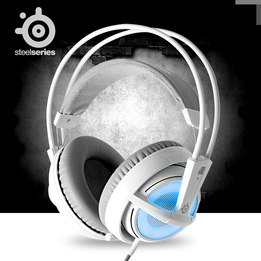 加菲外设steelseries/赛睿 Siberia v2霜冻之蓝游戏耳机绝版国行