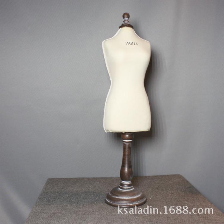 欧式木质模特首饰架家居装饰摆件模特道具服装展示架