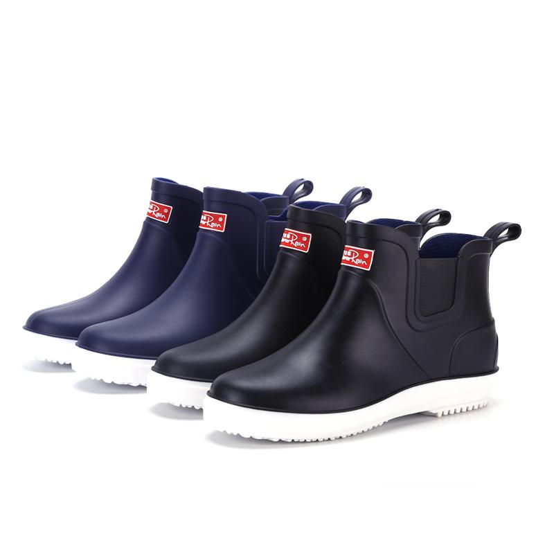 夏季雨鞋男低帮防滑短筒雨靴工作鞋耐磨时尚胶鞋钓鱼洗车防水套鞋