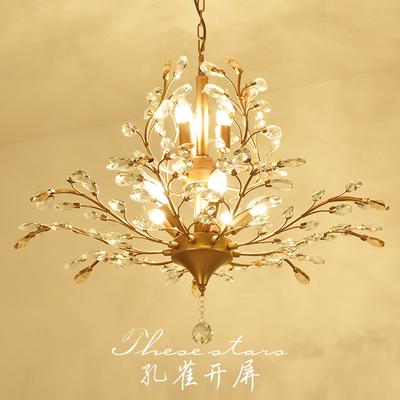 美式乡村吊灯客厅卧室咖啡厅服装店玄关过道复古艺术欧式水晶吊灯