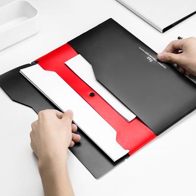 kinbor【fizz】彩色双层a4文件袋按扣资料袋商务公文袋档案袋塑料办公文件包