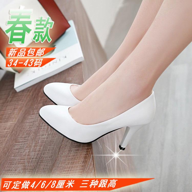白色高跟春鞋