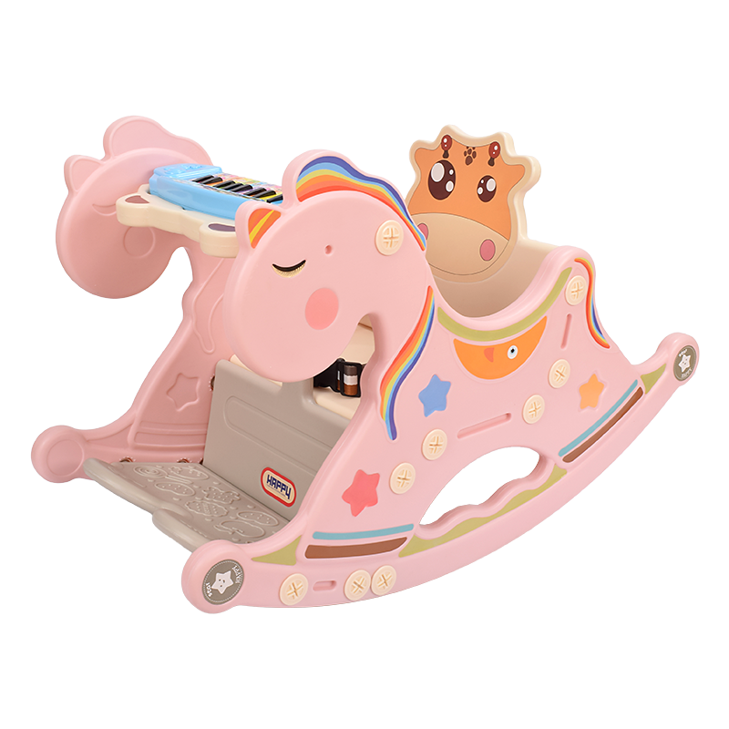 亲儿乐婴儿宝宝摇摆椅带音乐小木马摇马儿童玩具一周岁生日礼物