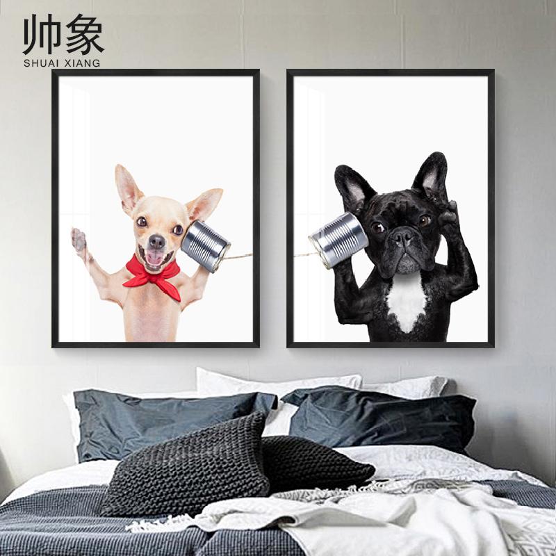 客厅挂画动物