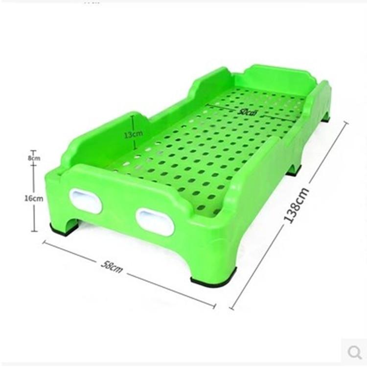 幼儿园床 午睡床 特价 可折叠 省空间 午托 塑料床 加厚版 单人床