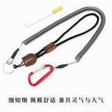 Steel fishing gear fishing gear fittings telescopic fishing rod protecting rod rope