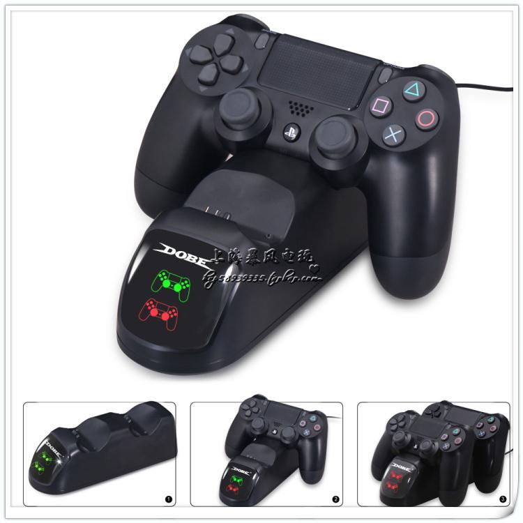 包邮 DOBE正品原装 PS4手柄座充 PS4SLIM PRO手柄充电器 带指示灯
