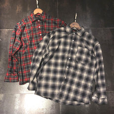 Spring and autumn black and white plaid shirt male loose shoulder long sleeve Original tide brand sand oversize couple shirt