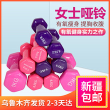 Xinjiang Department Store Brother Household Fitness Bone Lady Dumbbell Multi-color Hexagonal Multi-weight Immersion Small Dumbbell