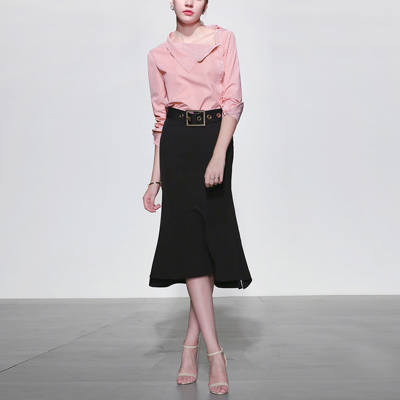 小香风气质名媛两件套衬衫半身裙套装女装春装时尚潮2019新款