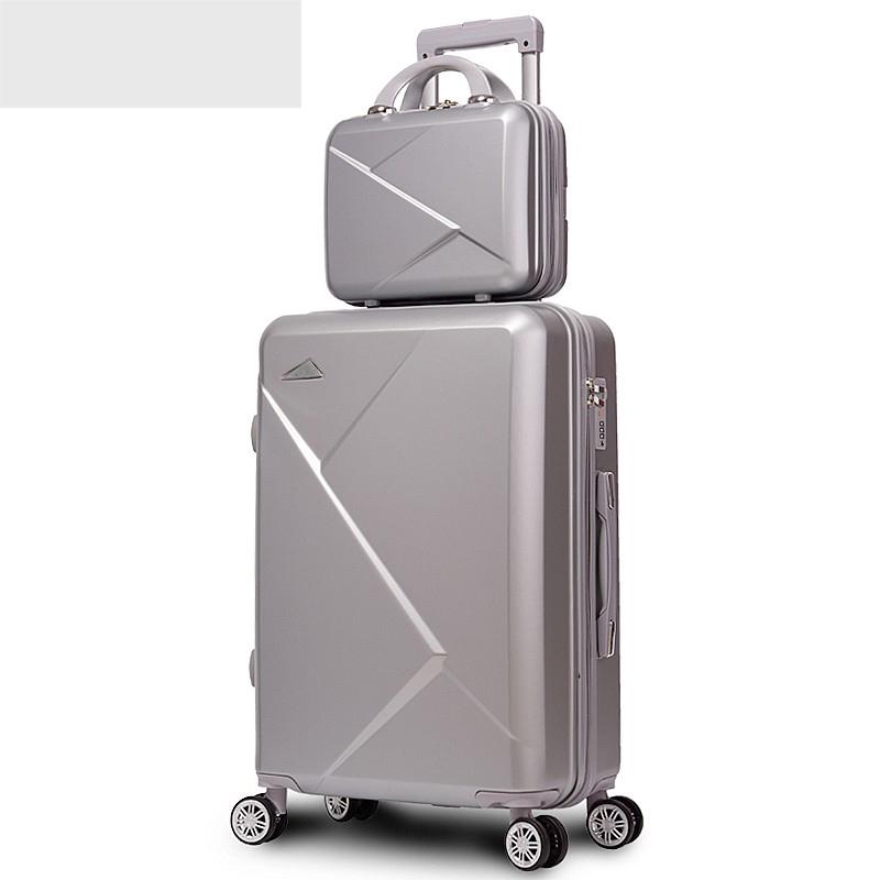 打包带登机玫瑰金礼品防盗旅行女生男子轻便拉杆箱行李箱子母箱