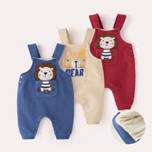 子保暖婴幼儿冬装 宝宝背带裤 加绒女冬季儿童高腰加厚男1岁婴儿裤图片