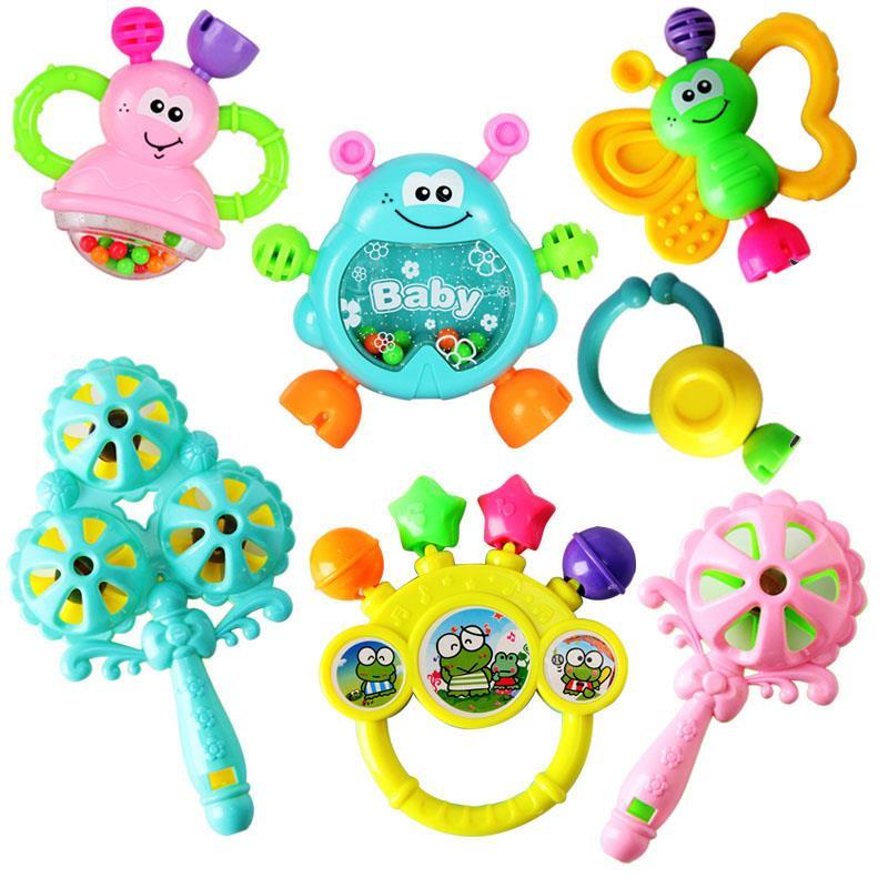 彩铃上课训练小孩摇摇玲听力手摇铃儿童玩具棒球套装乐器摇铃