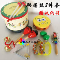Children's percussion instrument Children's music early education tambourine triangle iron toy combination Orff suit