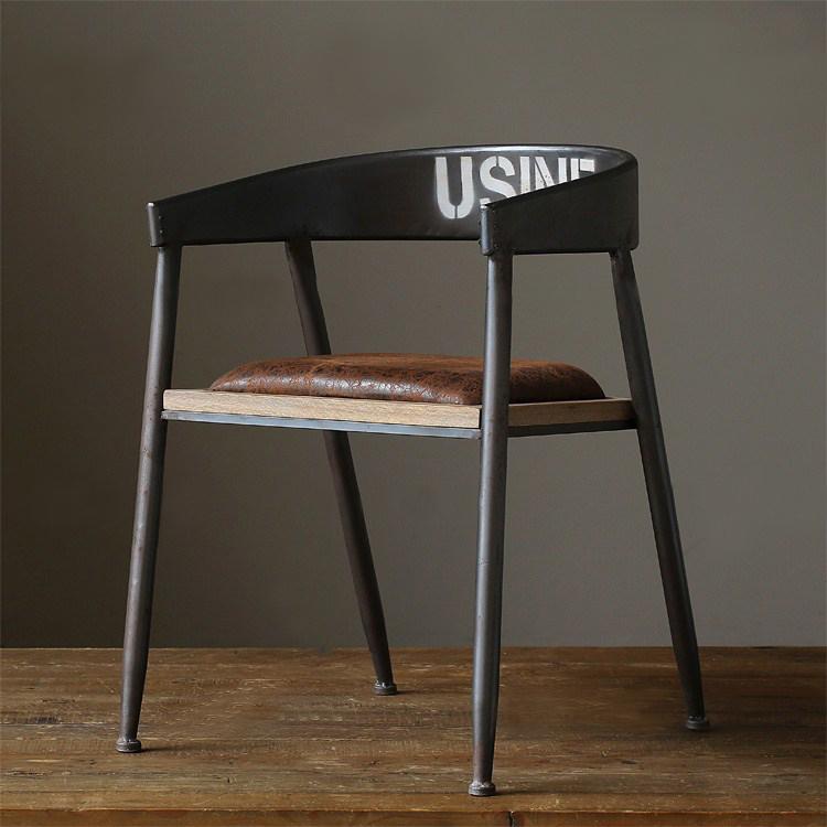 美式乡村做旧复古餐椅铁艺沙发