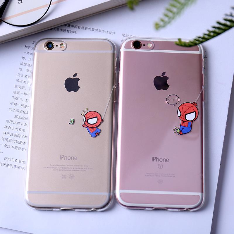 iphone7苹果6s手机壳6plus全包软壳5se情侣防摔卡通透明保护套