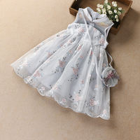 Girls cheongsam dress Chinese style 2019 summer dress new fairy vest skirt princess dress fairy skirt show dress