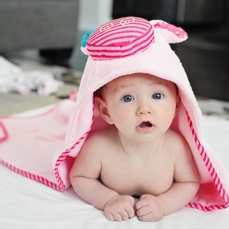 【直营】ZOOCCHiNi婴幼儿连帽浴巾(小)