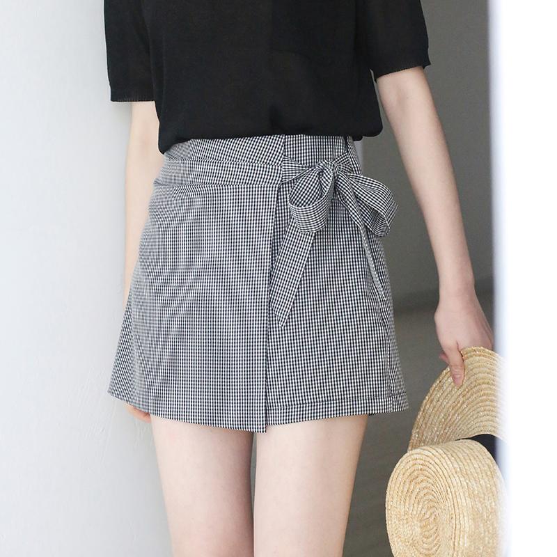 夏天格子短裤