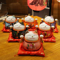 Japanese lucky cat ornaments opening gifts electric shake shop cashier piggy bank wealthy cat home living room