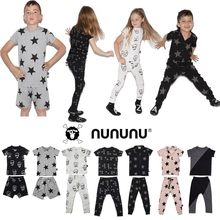 Domestic Spot NUNUNU 2018 Spring Style Genuine Non-Return Pajama Suit Parent-Child Style