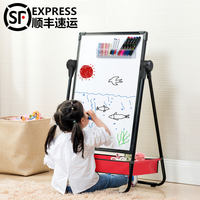 Drawing board bracket home blackboard wall pupils young children baby magnetic pen writing eraser whiteboard