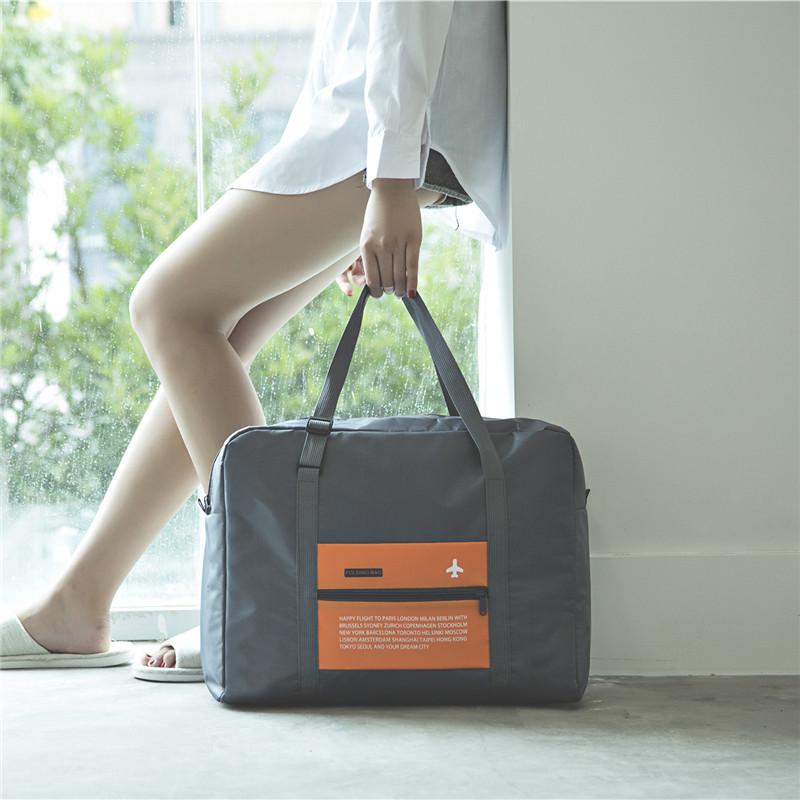 可折叠轻便携旅行袋大容量行李包女拉杆箱男手提健身包行李收纳袋