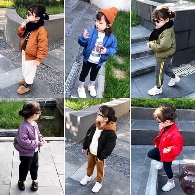 宝宝棉服儿童棉衣女童冬装2018新款1-3-6岁小童棉袄洋气轻薄外套