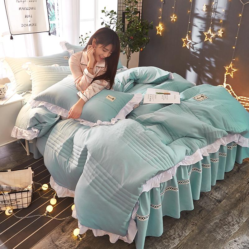 床上用品四件套纯棉加厚夹棉