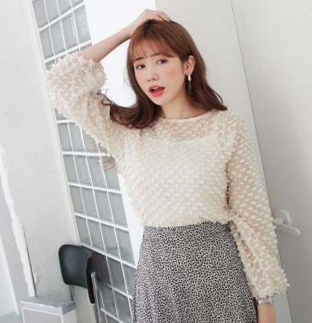 韩国代购2018秋季韩版女士刺绣小清新透视衬衫时尚吊带衫两件套装