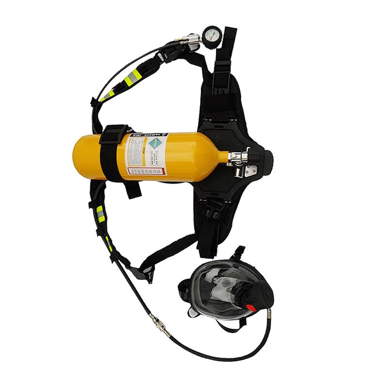 RHZK5L6L正压式空气呼吸器钢瓶消防救生空气呼吸器碳纤维6.8L气瓶