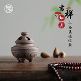Miniature incense burner pocket fingertip incense burner ceramic white porcelain household tea sets, tea dishes, tea ceremony accessories package