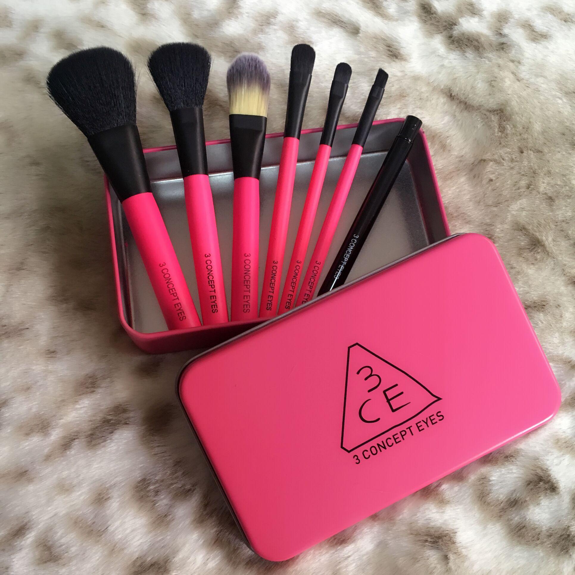 韩国3CE 化妆工具粉刷7支套刷生活妆化妆刷套装初学者全套组合刷