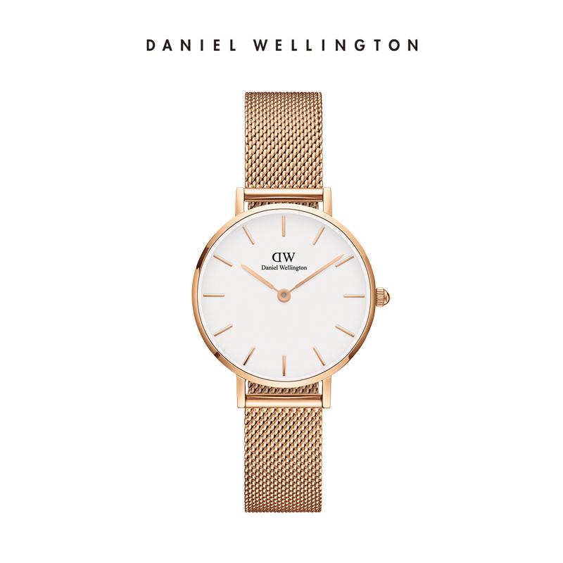 Daniel Wellington简约28mm不锈钢带腕表DW手表女