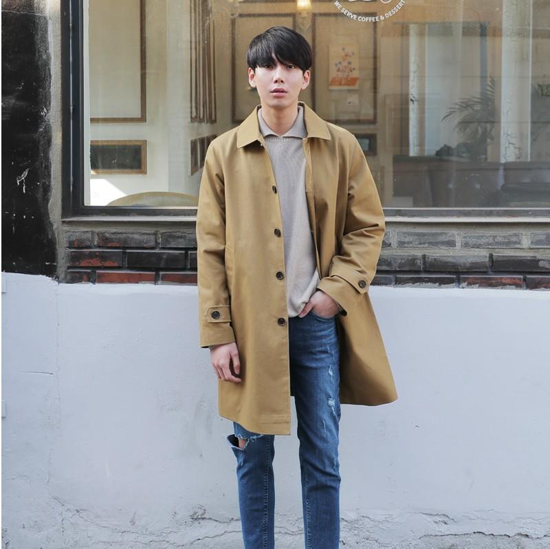 韩国代购正品风衣外套时尚起义2018春装新款休闲时尚外套男722309