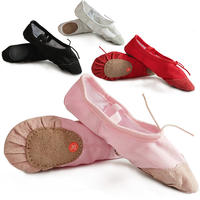 Children's dance shoes girls dance shoes baby soft bottom shoes children cat claw ballet shoes girls red male