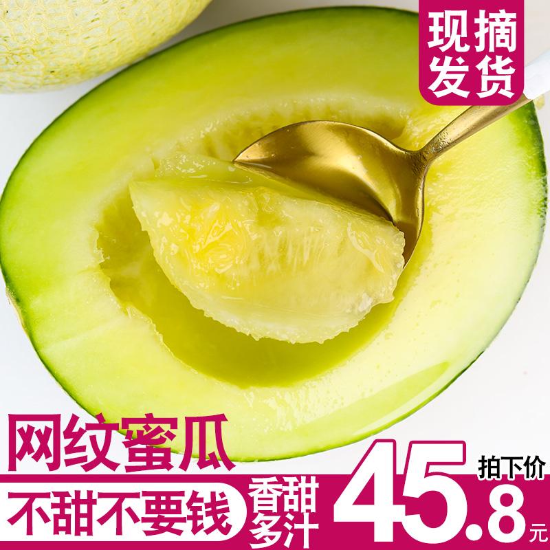 现摘网纹瓜新鲜整箱10斤哈密瓜当季水果蜜瓜包邮应季时令生鲜香瓜