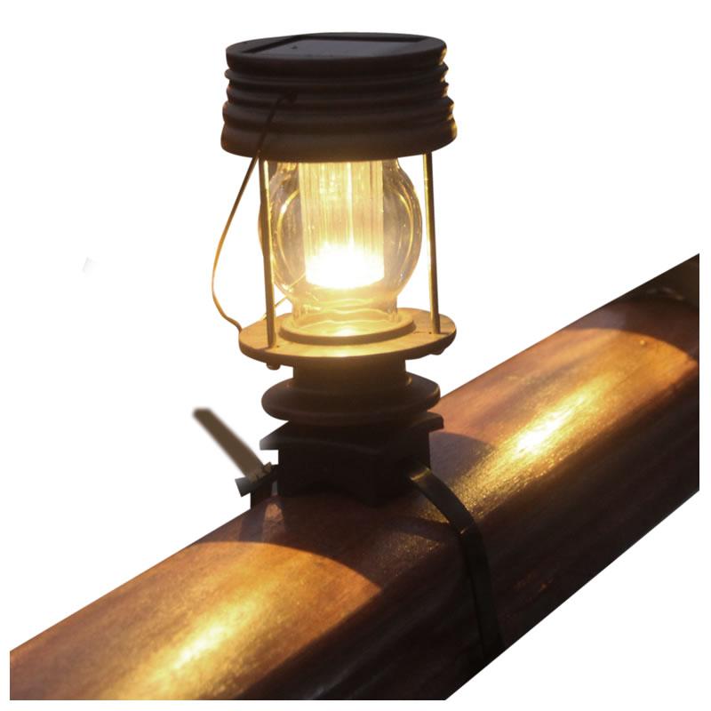 燕妹子复古阳台太阳能灯家用栏杆灯庭院灯户外路灯围栏楼梯灯防水
