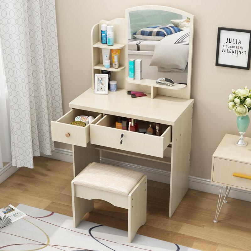 特价梳妆台简约现代卧室迷你小户型网红化妆台板式组装镜凳桌包邮
