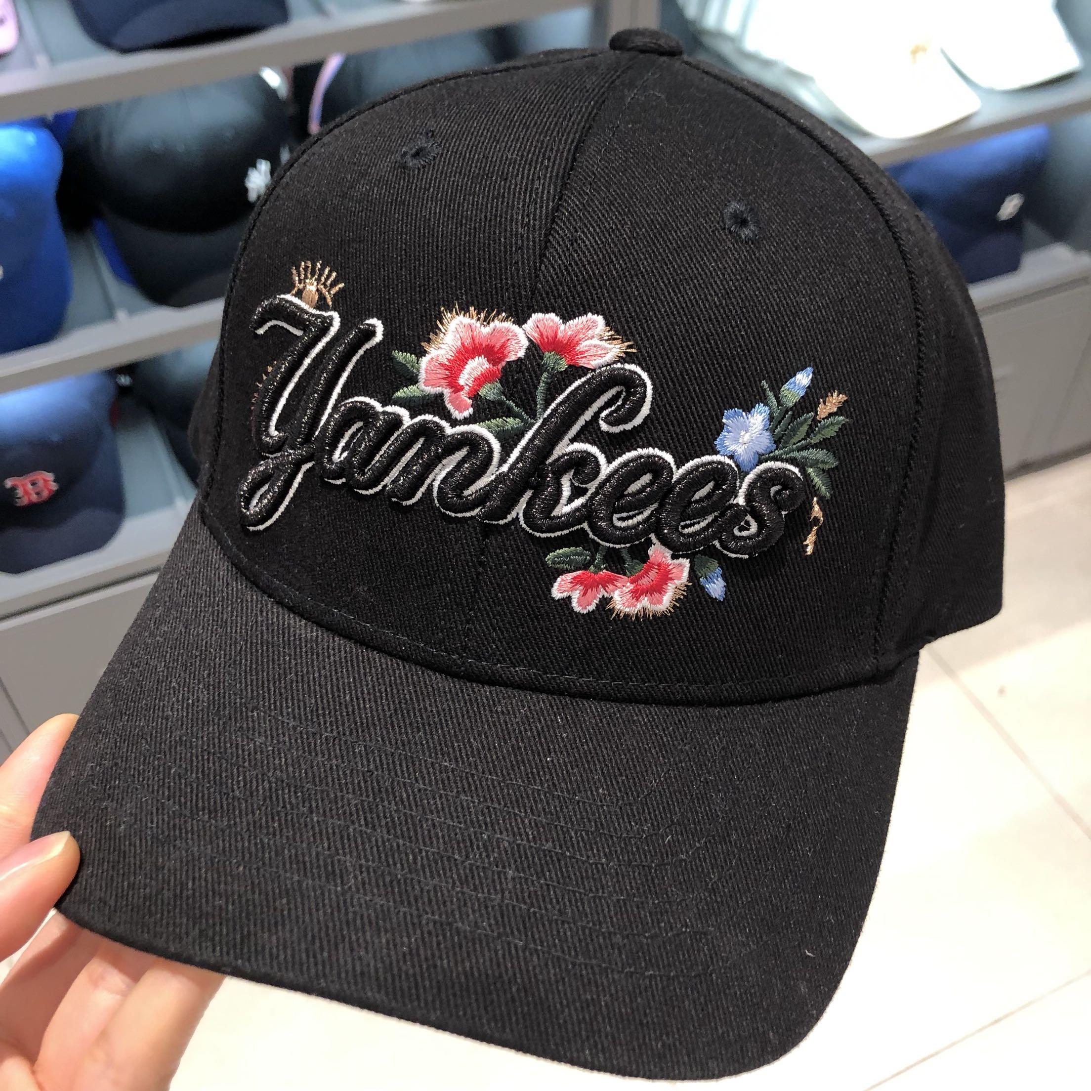 韩国专柜正品MLB棒球帽2019新款刺绣帽子男女同款遮阳鸭舌帽潮ins