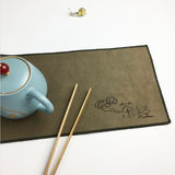 Super strong new tea towel tea cloth absorbwater plus thick cotton linean dry brewing tea ceremony kung fu tea set accessories towel rag tea with