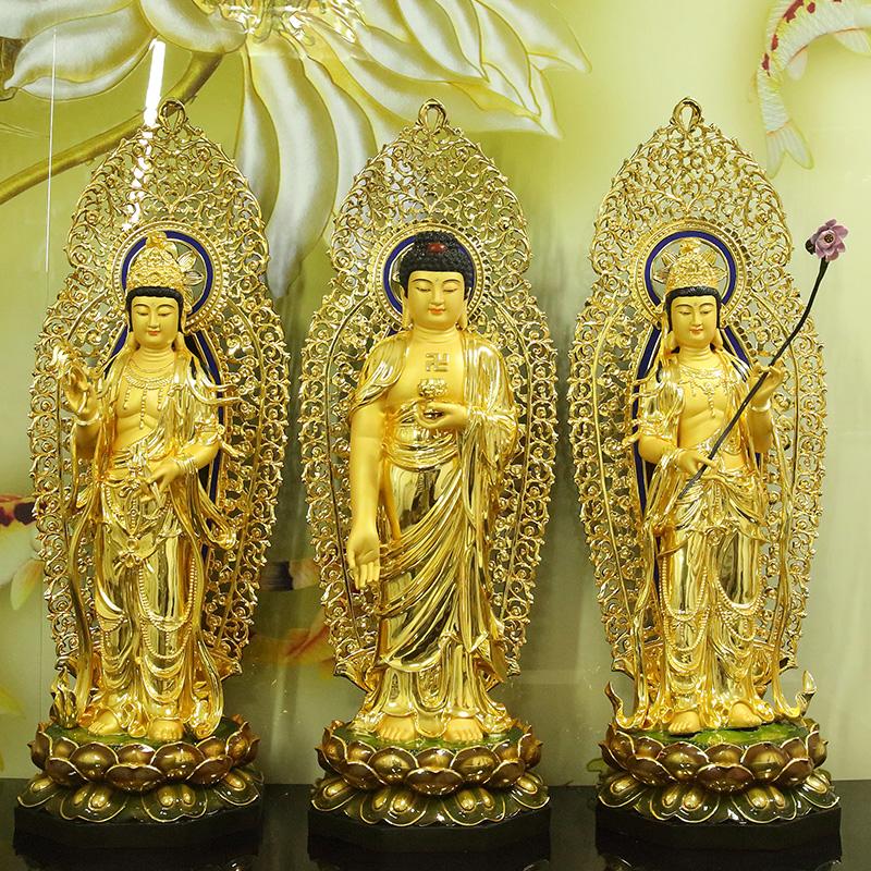 阿弥陀佛铜鎏金