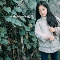 新款童装洋气棉袄棉服中大童儿童中长款加厚棉衣外套2018女童冬装