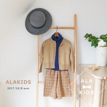 玲珑童装秋季新款开衫纯色短款百搭羊毛上衣针织衫亲子Y005
