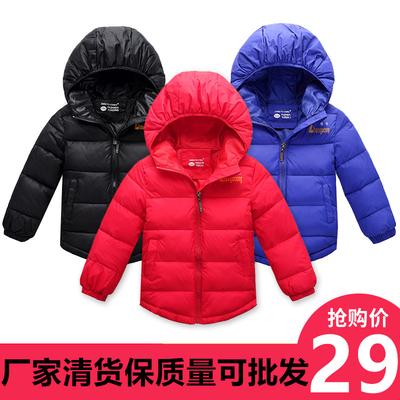 2018新款韩版外套女童棉衣男童冬装中大童加厚羽绒棉服儿童棉袄潮