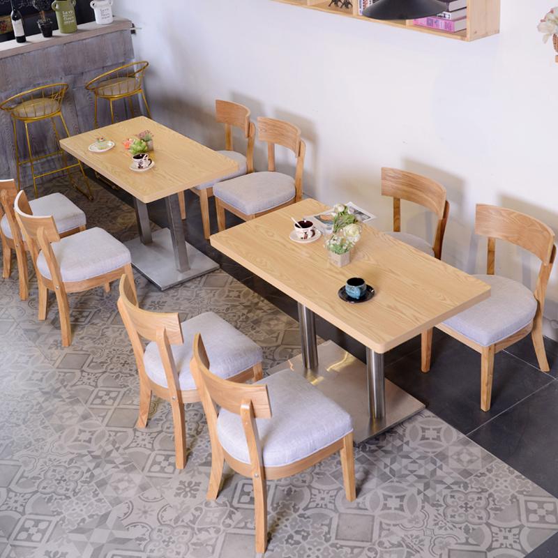 快餐店桌椅实木
