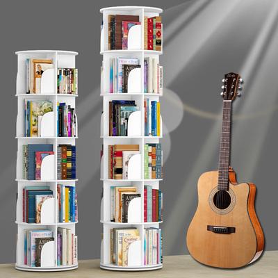 创意旋转书架360度书柜现代简约置物架儿童转角桌上简易学生落地价格